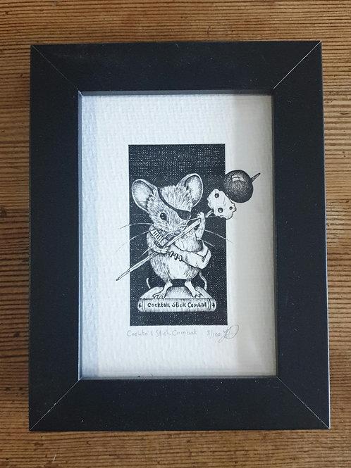 """Cocktail Stick Combat by Jenny Wren Draws 6x5"""""""