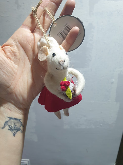 Mary Baker Mouse Felt Dec