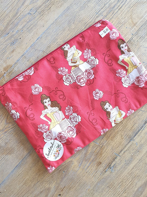 Belle Beauty & The Beast Lined Zipper Pouch