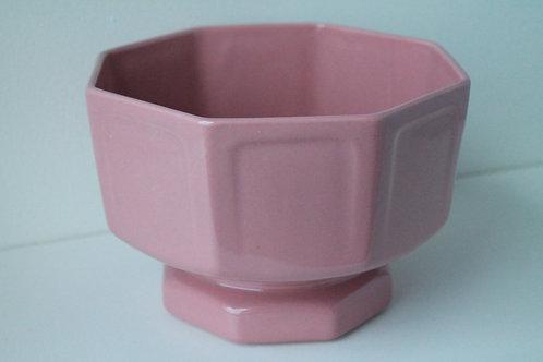 Large Pink Octagon Bowl