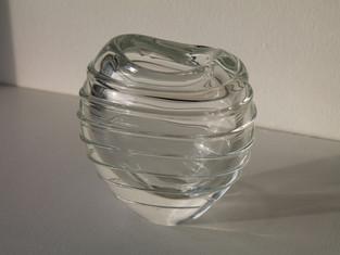 Glass Swirl Vase