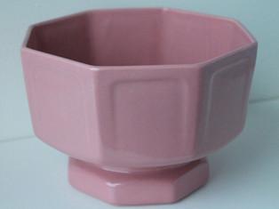 Large Pink Hexagon Bowl
