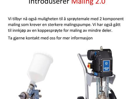 Introduserer nå Maling 2.0