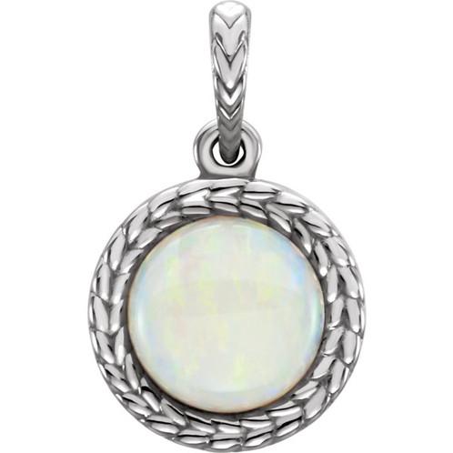 14k white gold opal pendant free shipping 14k white gold opal pendant front view aloadofball Gallery