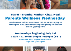 Attend Parents Wellness Wednesdays