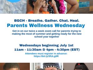 Attend Parents Wellness Wednesdays