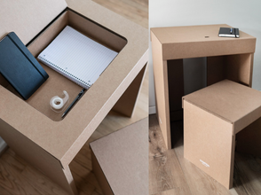 A Desk of One's Own: Innovative Cardboard Desks For BGCHarlem