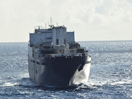 USNS Sisler and USNS Watkins Participate in 2016 Group Sail Exercise in Diego Garcia