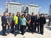 Transportation Secretary Elaine Chao paid a visit today to the Cape Trinity in Beaumont Texas