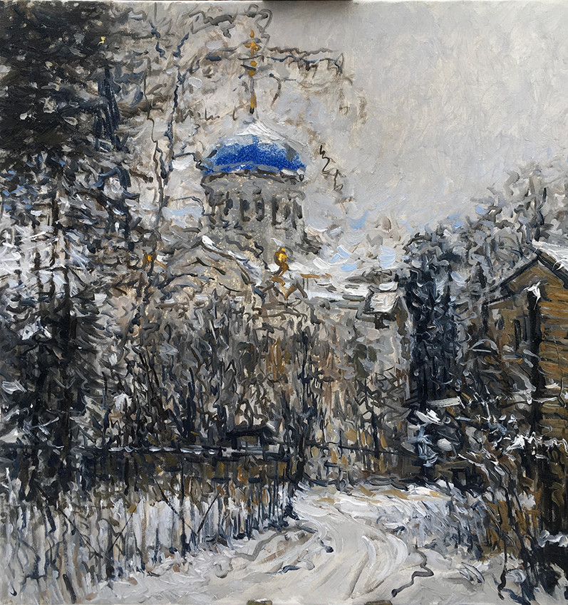 Андрей Гурьянов, «Кружева», 2020 г., холст, масло, 60х60 см