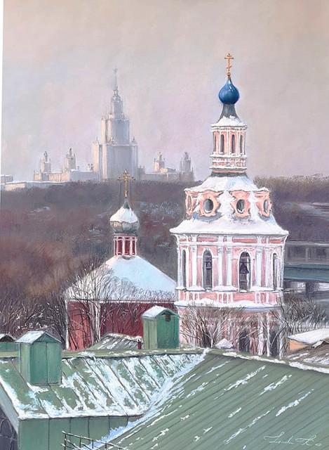 Линда Крицкая, «Дух и разум», 2020 г., бумага, пастель, 70х50 см