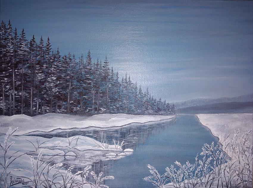 Татьяна Чердынцева, «Зимний пейзаж», 2021 г., холст, масло, 30х40 см