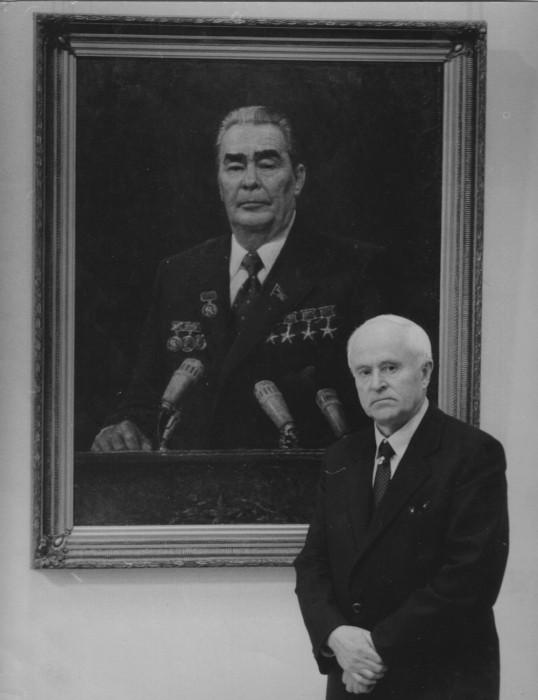 """В. Г. Гремитских и его """"Портрет Л. И. Брежнева"""" 1982 год"""