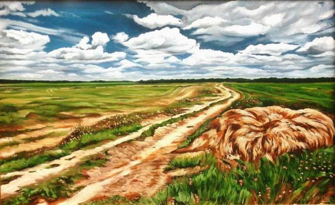 """Юрий Юдин """"На Орловской земле"""", 2009 г., холст, масло, 50х80 см"""