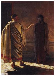 """Николай Ге. """"Что есть истина?"""", 1890 г."""