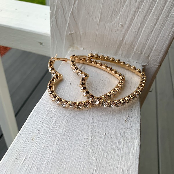 Heart of Gold Earrings from Ivy Exchange. Item sold out. Visit her online boutique for great finds. Free shipping on orders and free local-up in Jefferson, GA