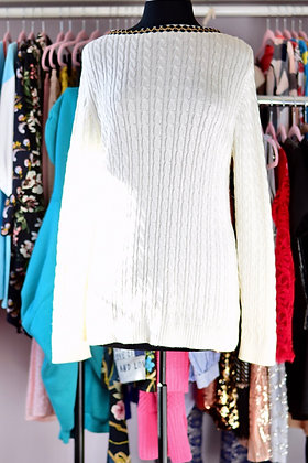Upcycled Low Back Sweater