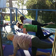 Yoga during the Wellness Retreat