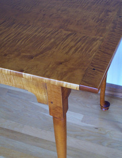 Figured maple dining table