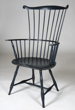 Bamboo comb back arm chair