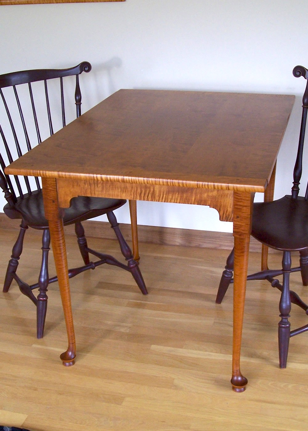 Cherry dining table Windsor Chairs