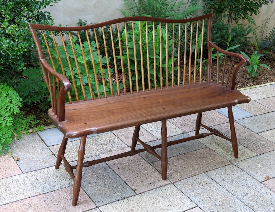 Natural finish Settee
