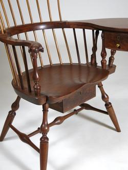 Walnut writing arm chair storage