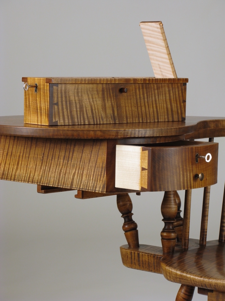 Writing-Arm Chair quill box