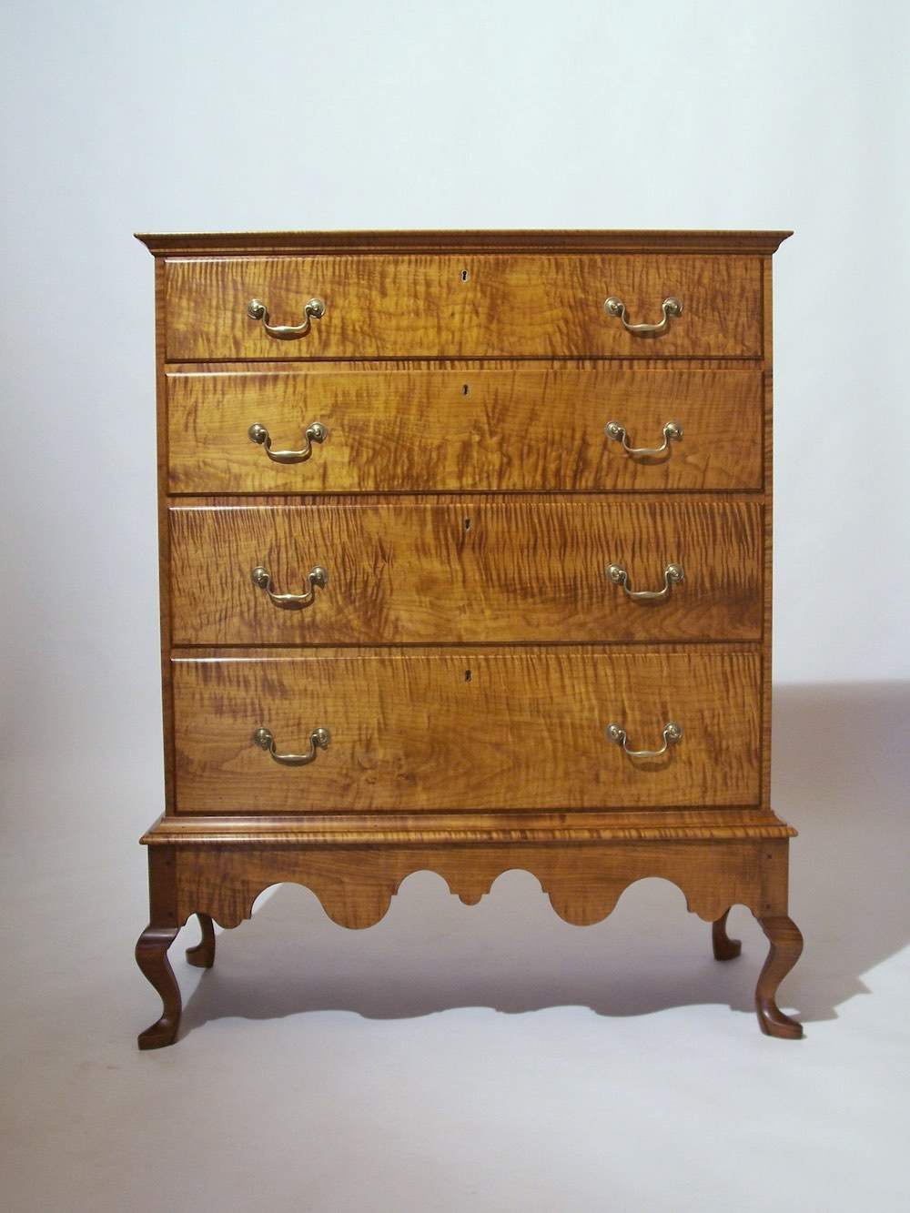 Queen Anne chest-on-frame