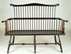 Comb-back settee