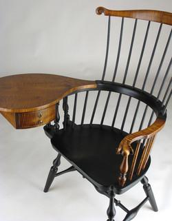 Walnut writing arm chair