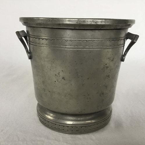 フランス アンティーク ピューター (エタン) ポット アイスペール 氷入れ 鉢カバー (送料無料)