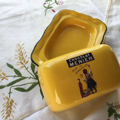 フランスアンティーク ビンテージ ショコラメニエ  Chocolat Meunier  バーターケース