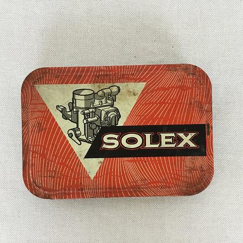 フランス アンティーク ブリキ缶 SOLEX ティン缶