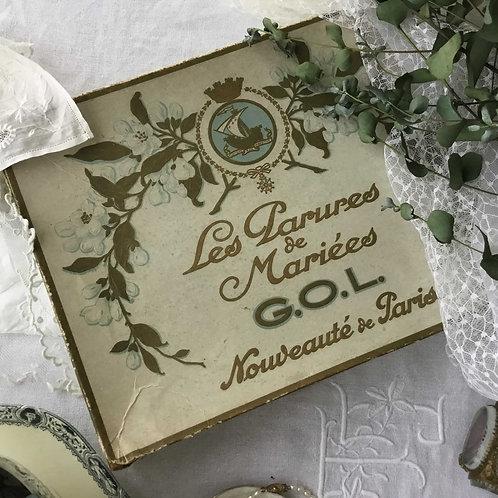 フランス アンティーク G.O.L. ウエディングボックス マリアージュ 装飾品  (箱のみ)