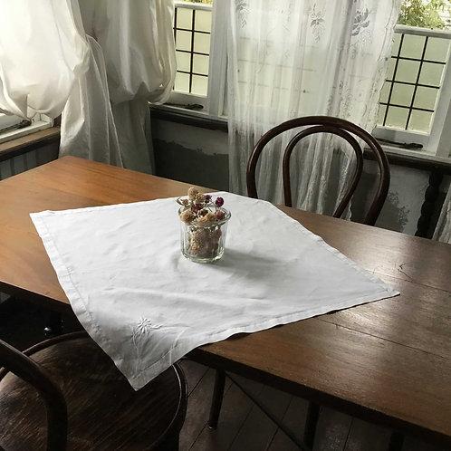フランス アンティーク リネン テーブルナプキン テーブルクロス  小花刺繍 54x 54