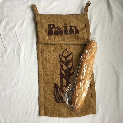 """フランス 壁掛け式 バゲット フランスパン用 保存 麻袋 """"Pain"""""""