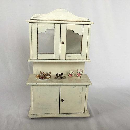 フランス アンティーク ドール 人形 家具 ビュッフェ 食器棚  35.5 cm (送料無料)