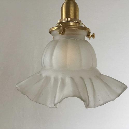 フランス アンティーク ランプシェード 照明 (すりガラス) (シェードのみ)