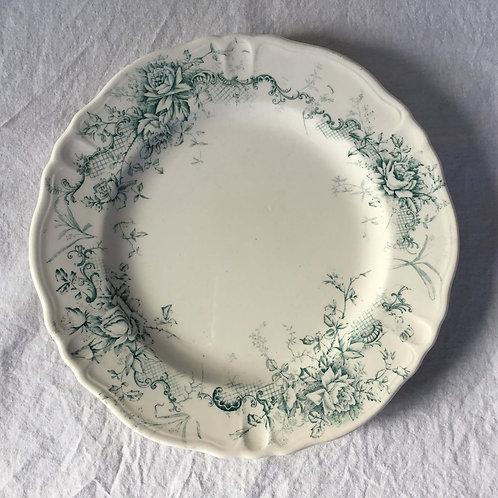 フランス アンティーク ロンシャン Rocroy 花柄リム プレート平皿 22.5 cm