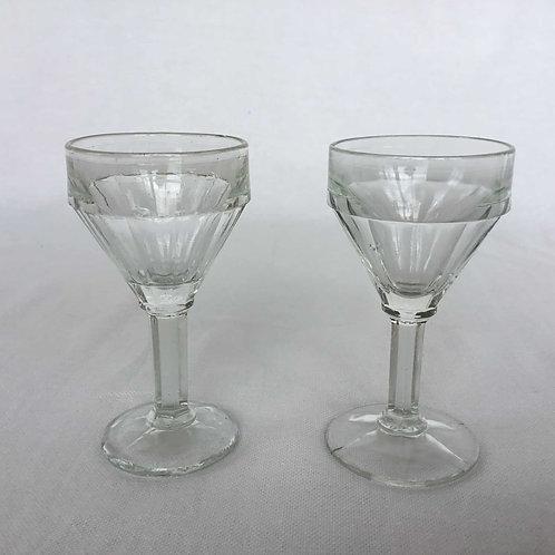 (在庫2) フランス アンティーク グラス アペリティフ リキュール 足つき