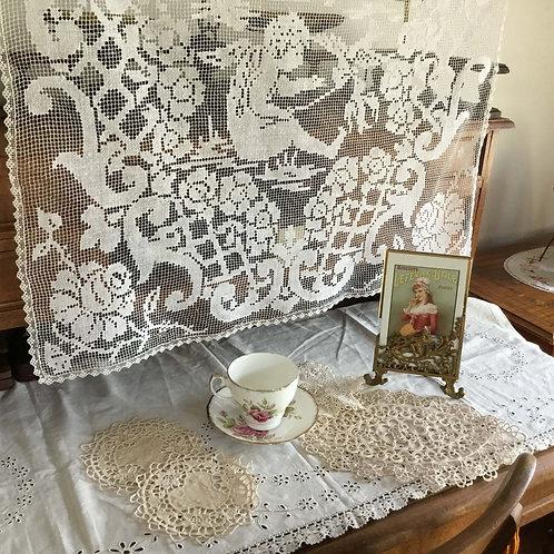 フランス アンティーク 19.5 cm ガラスと真鍮 エンジェル 天使のオルモル装飾 アールヌーボー フォトスタンド フォトフレーム 写真なし (送料無料)