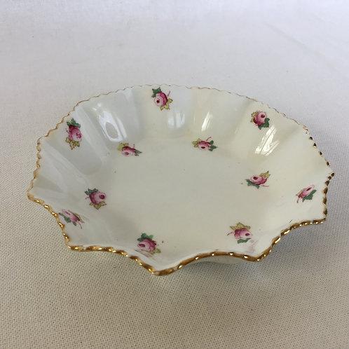 イギリスアンティーク Grosvenor China グロブナーチャイナ プレート 金縁 小花柄