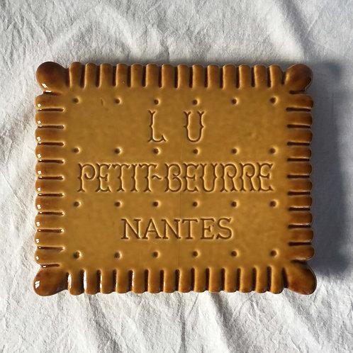 フランス Lu Petit-Beurre Nantes 陶磁器製鍋しき