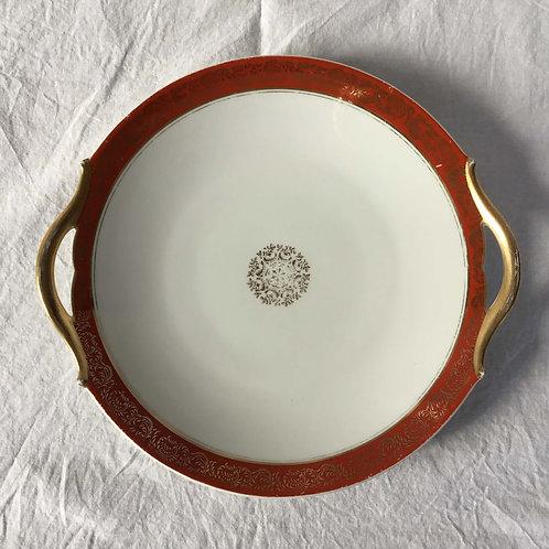 フランス アンティーク リモージュ レイノー 取手付き プレート 皿 28 x 26 cm
