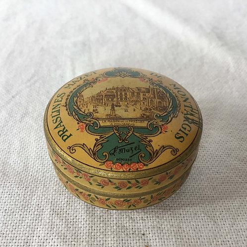 フランス MAZET アンティーク缶 ティン缶 薔薇
