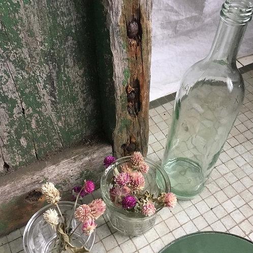 フランス JAVEL LA CROIX 家庭用漂白剤 ガラスボトル 1リットル 32 cm グリーン