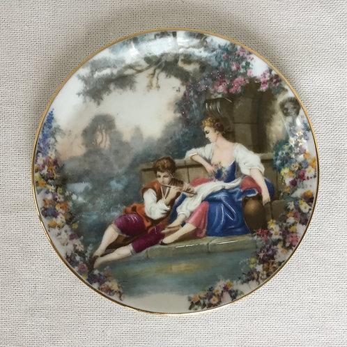 フランスアンティーク リモージュ キャビネットプレート 絵皿 金縁