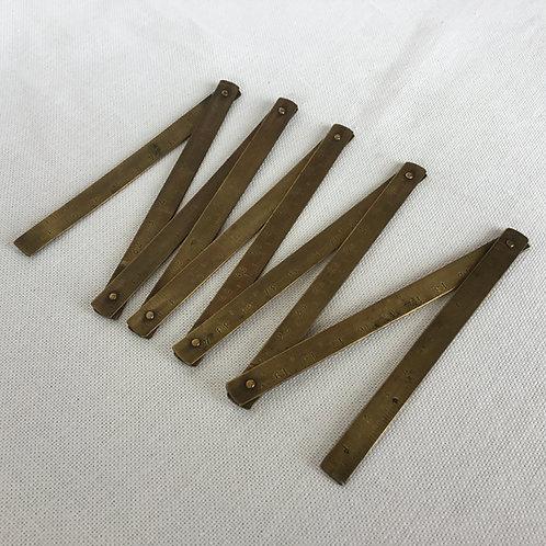 フランスアンティーク 真鍮 折尺 折りたたみ定規 物差し 1メートル