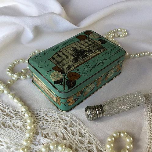 フランス アンティーク ブリキ缶 A LA RENOMEE ティン缶